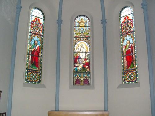 il tempio - Le vetrate dell'abside