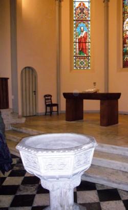 il tempio - Fonte battesimale