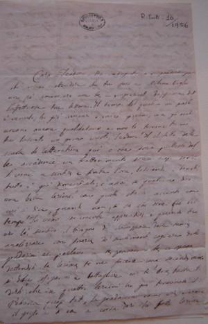 Lettera di De Sanctis a Teodoro Frizzoni
