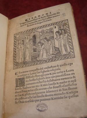Sermoni vulgari devotissimi (1494), dono di G. Zavaritt