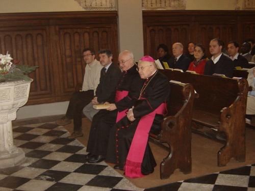 Mons. Amadei e mons. Scalabrini all'inizio del culto